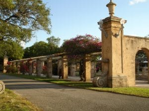 large stone archways in a park