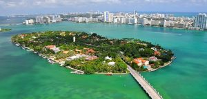 aerial view of star island miami florida