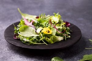 Leafy greens are among the foods for a healthy spine